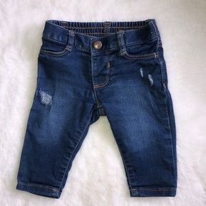Old Navy stretch distressed baby jeans 0-3 months